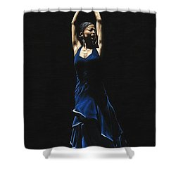 Bailarina A Solas Del Flamenco Shower Curtain by Richard Young