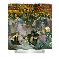 Ball On The 14th July Shower Curtain by Theophile Alexandre Steinlen