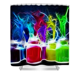 Ballet Of Colors Shower Curtain by Pamela Johnson