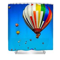 Balloon Festival Shower Curtain by Juergen Weiss