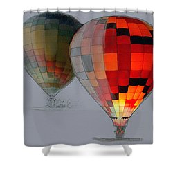 Balloon Glow Shower Curtain by Sharon Foster