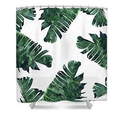 Banan Leaf Watercolor Shower Curtain by Uma Gokhale