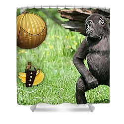Banana Delivery Service Shower Curtain by Marvin Blaine