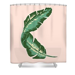 Banana Leaf Square Print Shower Curtain by Lauren Amelia Hughes