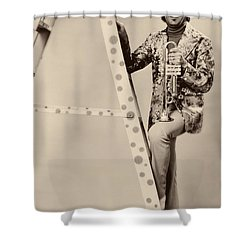 Band Leader Doc Serverinsen 1974 Shower Curtain by Mountain Dreams