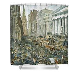 Bank Panic, 1884 Shower Curtain by Granger