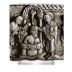 Baptism Of Clovis I, 496 A.d Shower Curtain by Granger
