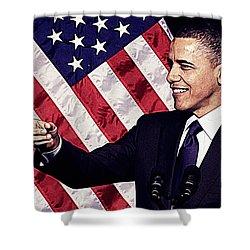 Barack Obama Shower Curtain by Iguanna Espinosa