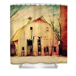 Barn And Silo Shower Curtain by Julie Hamilton