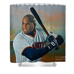 Barry Bonds Shower Curtain by Paul Meijering