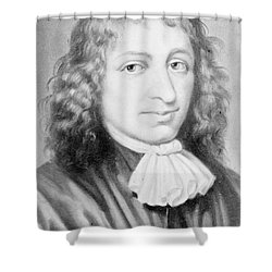Baruch Spinoza, Jewish-dutch Philosopher Shower Curtain by Photo Researchers