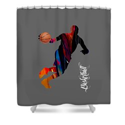 Basketball Collection Shower Curtain by Marvin Blaine