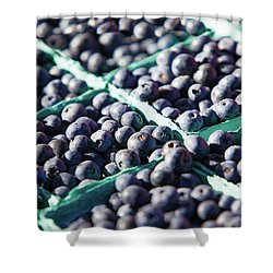 Baskets Of Blueberries Shower Curtain by Todd Klassy
