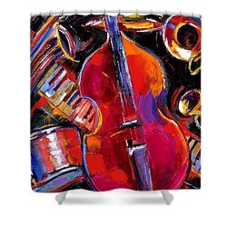 Bass And Friends Shower Curtain by Debra Hurd