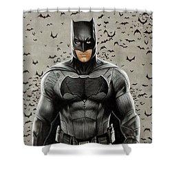 Batman Ben Affleck Shower Curtain by David Dias