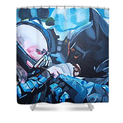 Batman Vs Bane Shower Curtain by Martin Putsey