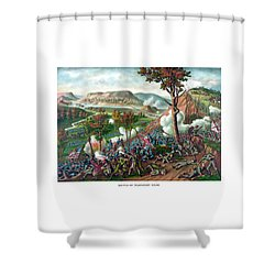 Battle Of Missionary Ridge Shower Curtain by War Is Hell Store