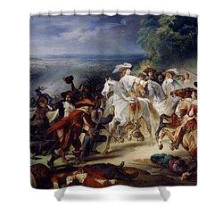 Battle Of Rocroy Shower Curtain by Francois Joseph Heim