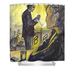 Bb Jazz Shower Curtain by Carol Wisniewski