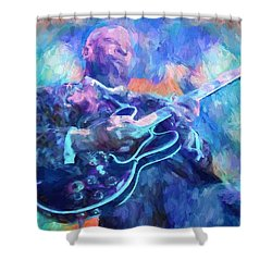 Bb King Shower Curtain by Dan Sproul