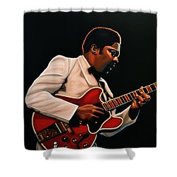 B. B. King Shower Curtain by Paul Meijering