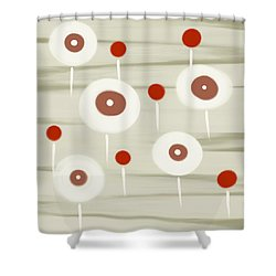 Shower Curtain featuring the painting Beach Flowers by Frank Tschakert