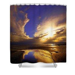 Beach Sunset Shower Curtain by Svetlana Sewell