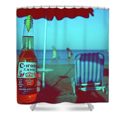 Beach Time Shower Curtain by La Dolce Vita