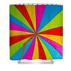 Beach Umbrella Shower Curtain by David Lee Thompson