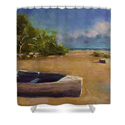 Beached Shower Curtain by David Patterson