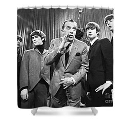 Beatles And Ed Sullivan Shower Curtain by Granger