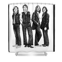 Beatles Drawing Shower Curtain by Murphy Elliott