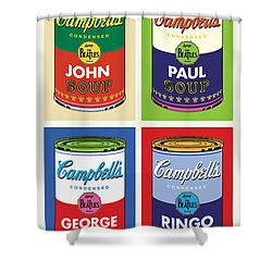 Beatles Soup Shower Curtain by Gary Grayson