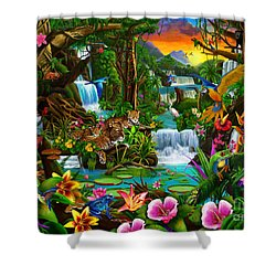 Beautiful Rainforest Shower Curtain by Gerald Newton