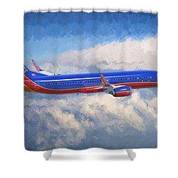 Beauty In Flight Shower Curtain by Garland Johnson