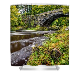Beaver Bridge Shower Curtain by Adrian Evans