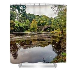 Beaver Bridge Autumn Shower Curtain by Adrian Evans