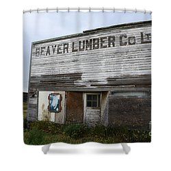 Beaver Lumber Company Ltd Robsart Shower Curtain by Bob Christopher