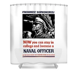 Become A Naval Officer Shower Curtain by War Is Hell Store
