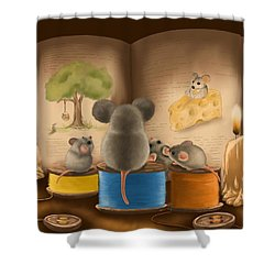 Bedtime Story Shower Curtain by Veronica Minozzi