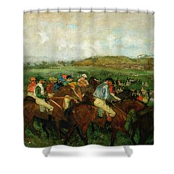 Before The Departure Shower Curtain by Edgar Degas