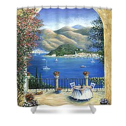 Bellagio Lake Como From The Terrace Shower Curtain by Marilyn Dunlap