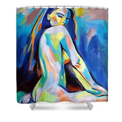 Belle Shower Curtain by Helena Wierzbicki