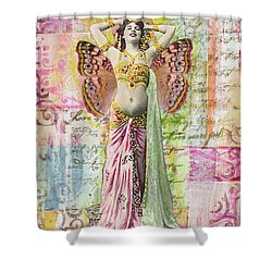 Belly Dancer Shower Curtain by Desiree Paquette
