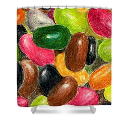 Belly Jelly Shower Curtain by Lynne Reichhart