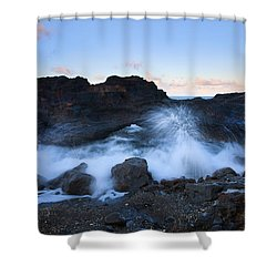 Beneath The Arch Shower Curtain by Mike  Dawson