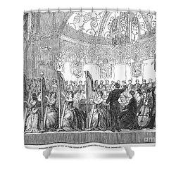 Benefit Concert, 1853 Shower Curtain by Granger