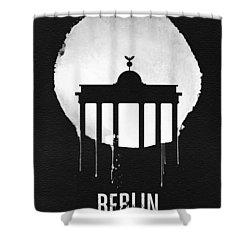 Berlin Landmark Black Shower Curtain by Naxart Studio