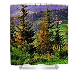 Beskidy Mountains Shower Curtain by Mariola Bitner