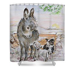 Best Friends Shower Curtain by Diane Matthes